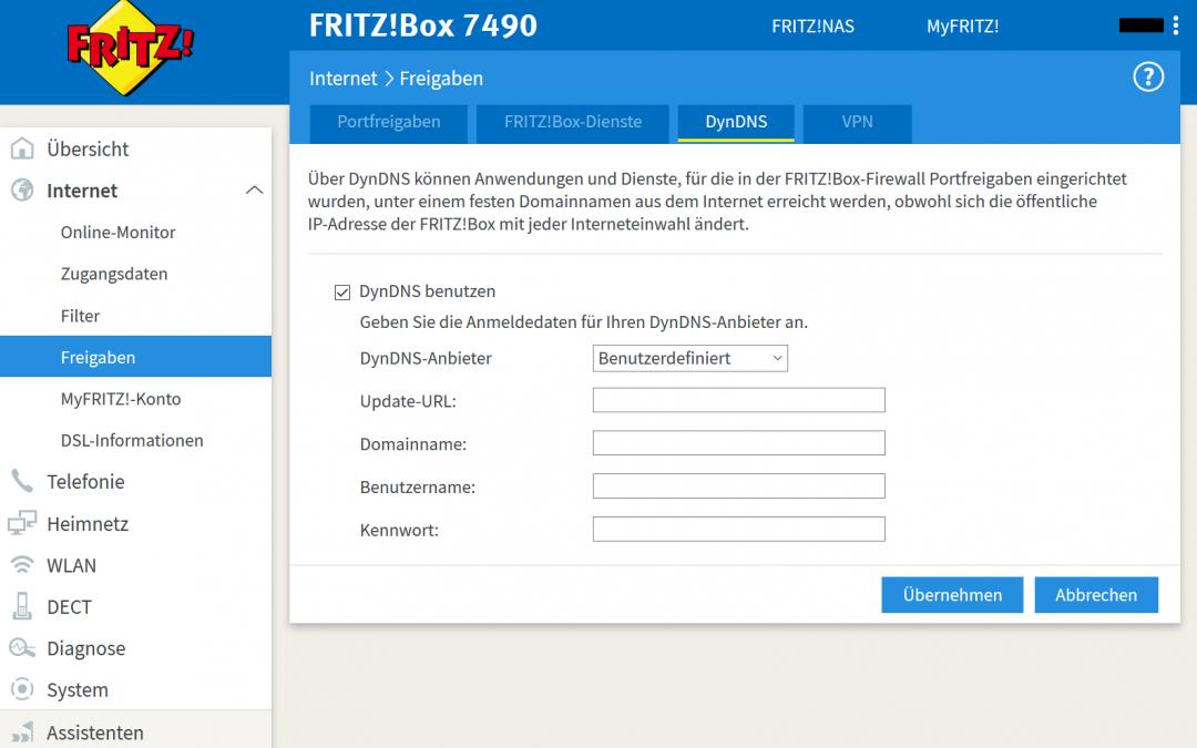 Externer Zugriff auf die FritzBox